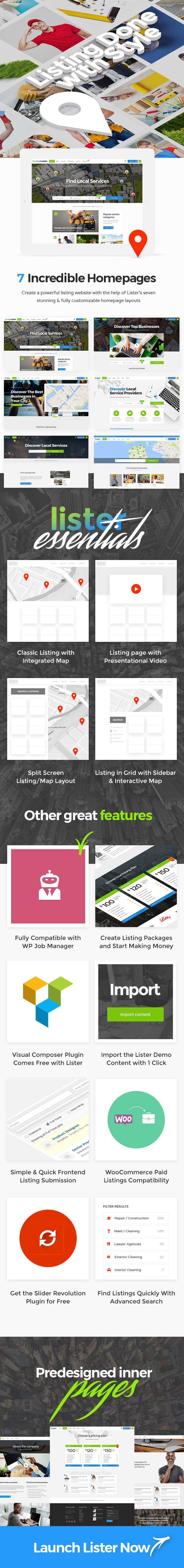 Lister - Business Directory & Listing Theme - 1